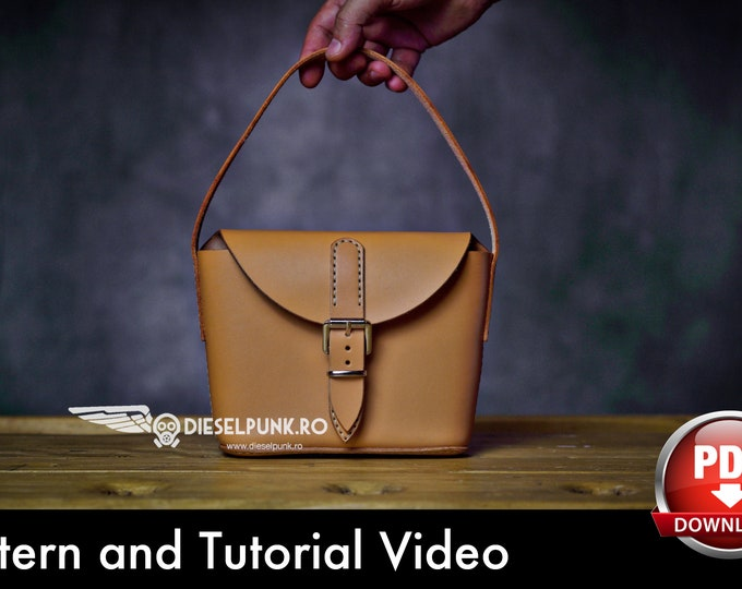 Small Leather Bags Pattern - Leather DIY - Pdf Download - Leather Bag - Video Tutorial