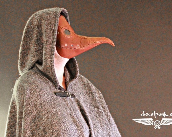 PLAGUE DOCTOR mask leather steampunk Halloween LARP costume cosplay
