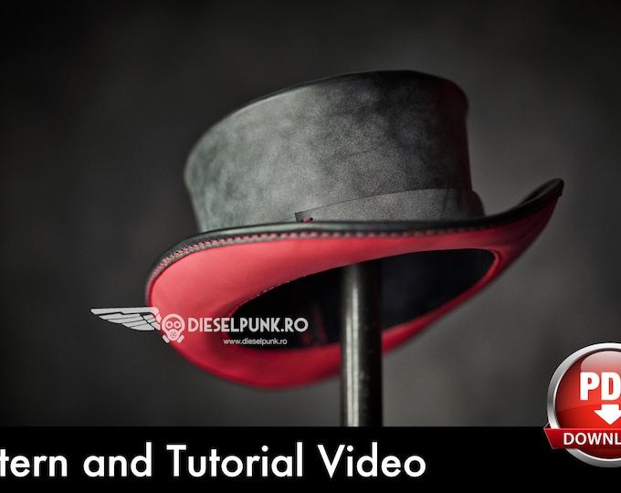 Top Hat Pattern - Leather DIY - Pdf Download - Video Tutorial