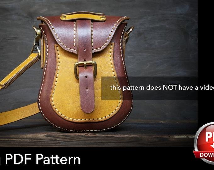 Bag Pattern - Leather DIY - Pdf Download - Purse Pattern