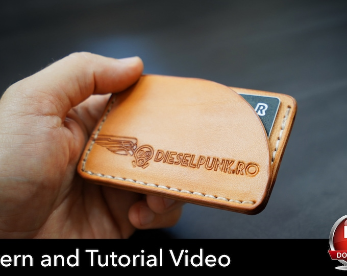 Credit Card Pattern - Wallet Pattern - Leather DIY - Pdf Download