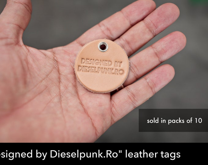 Dieselpunk.Ro Leather tags - 10pieces