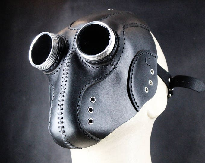 Steampunk Mask - Leather Mask - Cyberpunk Mask - Post Apocalyptic Mask - LARP Mask - Cosplay Mask