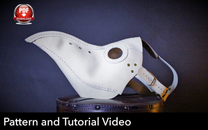 Plague Doctor Mask Pattern  Pdf Download  Video Tutorial image 0