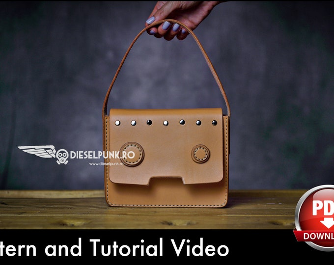 Fashion Bag Pattern - Leather DIY - Pdf Download - Leather Bag - Video Tutorial