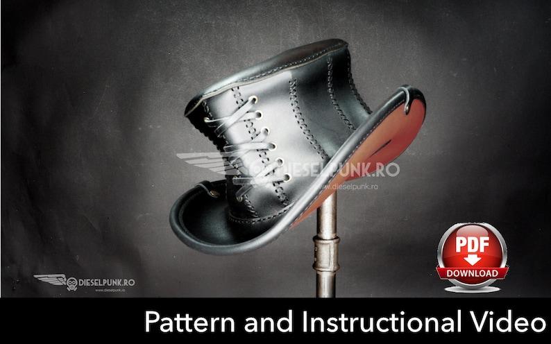 Top Hat PATTERN DIY Hat Pdf Download Corset Hat Video  ca0147f27d8