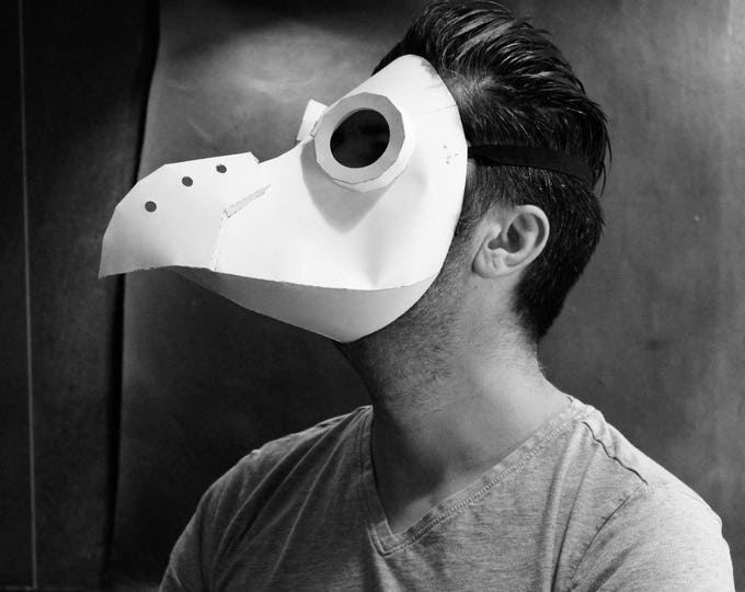 PAPER Plague Doctor Mask Pattern - DIY Pattern - Halloween Mask DIY - Pdf Download - papercraft mask