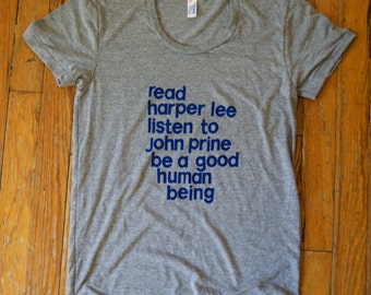 john prine shirt / harper lee shirt / avett brothers shirt / to kill a mockingbird shirt / atticus finch shirt / kacey musgraves shirt /