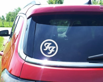 Round Foo Fighters Inspired Car Decal - FF Decal - Vinyl Decal - Custom - Dave Grohl