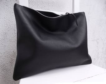 3a1687709c 15% Off/Oversize Leather Clutch/Men's Clutch/Big Leather Clutch/Large  Leather Clutch/Zipper Clutch/Oversize Leather Case/READY TO SHIP