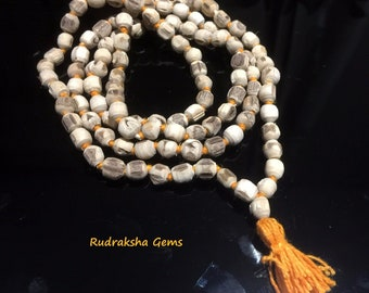 Tulsi Mala round shap Beads - Handmade knotted tulsi holy Basil Mala necklace- yoga meditation japa Mala - krishna Prayer Beads Mala