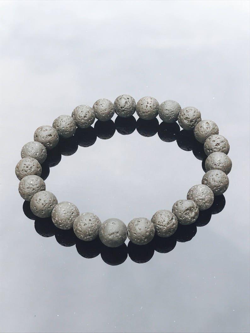 lava rock gemstone bracelet diffuser bracelet for aroma therapy oils- unisex beaded bracelet lava stone bracelet porus beads