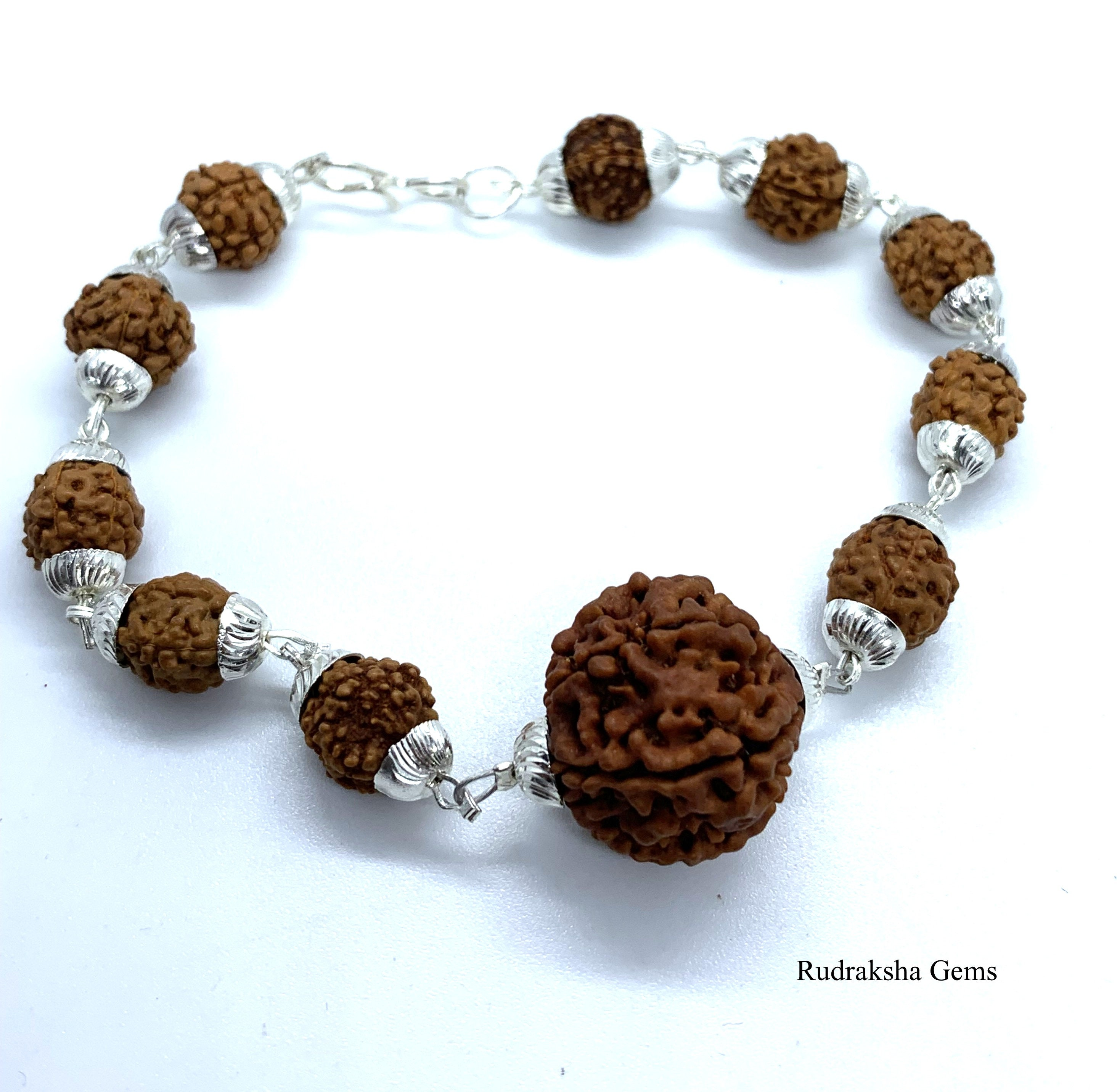 ba4f2eaed4a 7 mukhi Rudraksha Bracelet 7 face Rudraksha Bracelet Genuine | Etsy