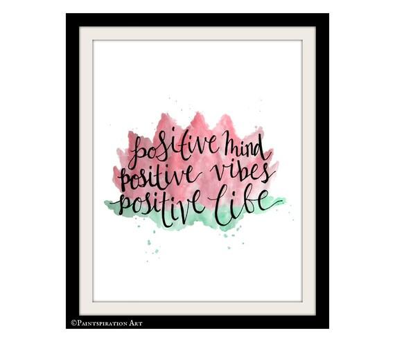 Loto flor arte citar frases positiva impresión arte | Etsy