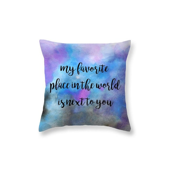 Valentines Day Gift Decorative Throw Pillow Love Quote Throw Etsy