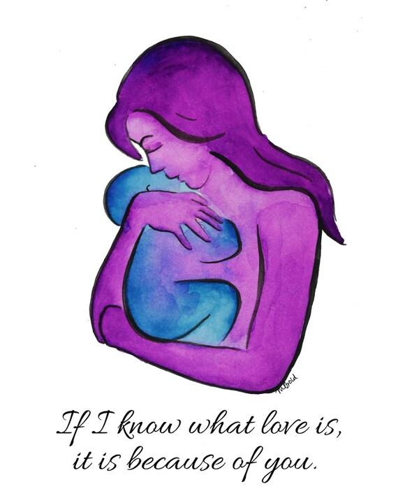 Mütter Tag Kunstdrucke Zitate Baby Aquarell Kunst Mama Sprüche Geschenk Für Neue Mama Mutterschaft Malerei Mama Und Baby Art Wand Kinder Sprüche