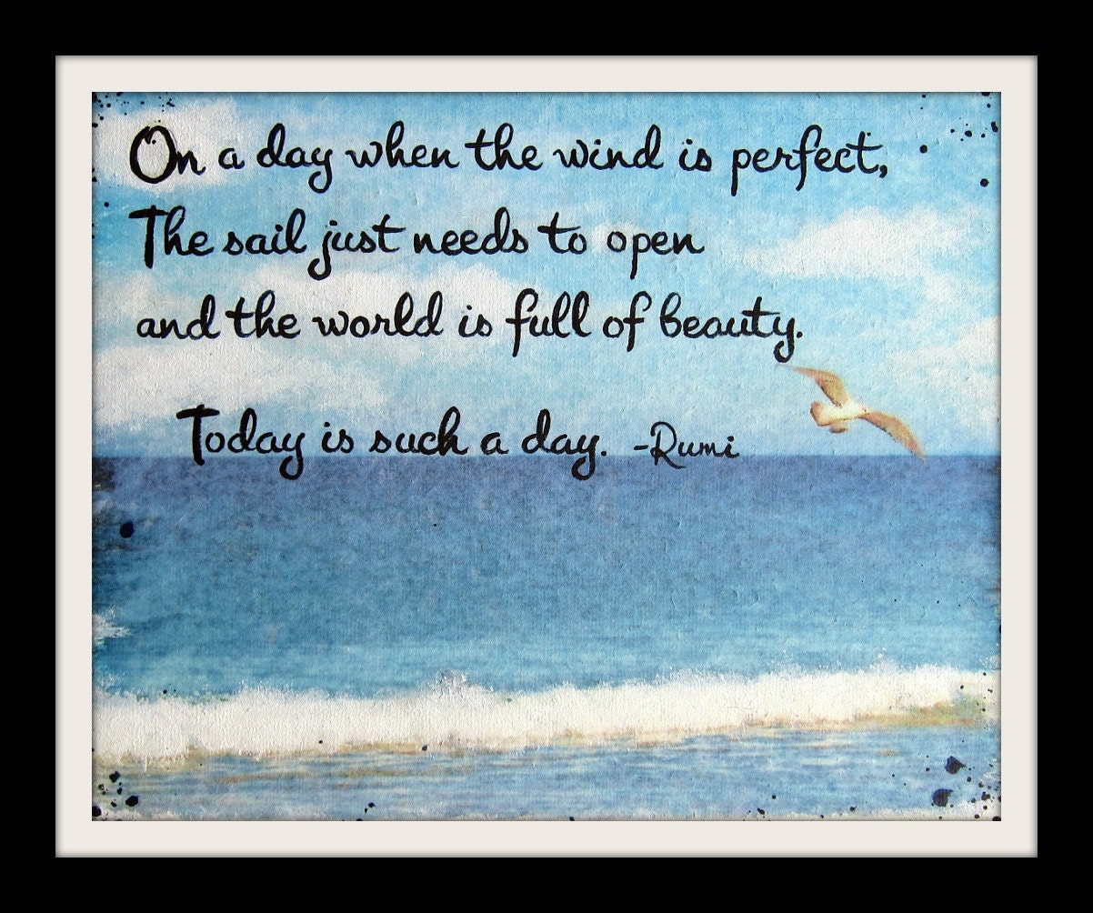 Inspirational Quotes Sailing: Rumi Quote Prints Rumi Print Sailing Art Beach Decor