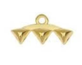 Cymbal VANI III - GEMDUO Bead Ending Gold or Silver Plate 1 Pair