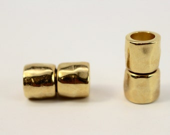 10mm MAGNETIC CLASP HAMMERED Bright Gold Finish Kumihimo Braids, Leather, Paracord, Climbing Rope