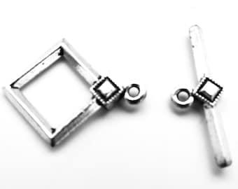 Art Deco Diamond Toggle Clasp, 20mm