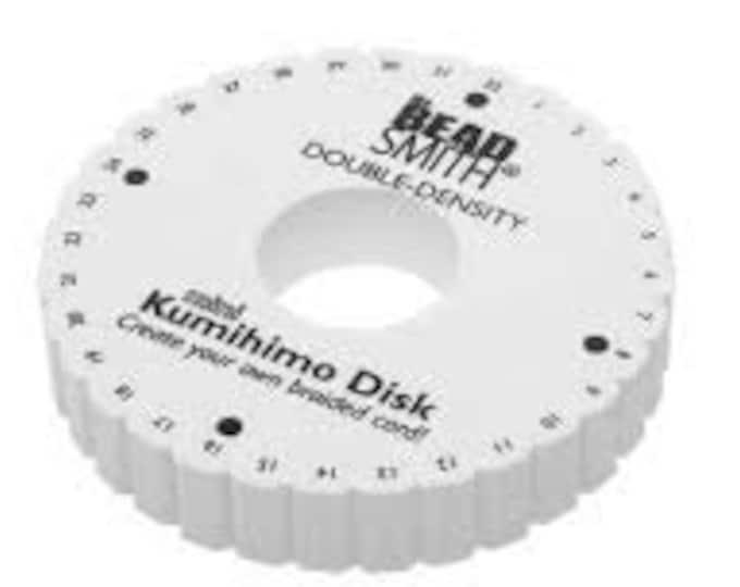 "BeadSmith -Kumihimo Double Density 6"" Round Foam Disc"