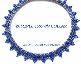 TUTORIAL PATTERN  Kumihimo Triple Crown Embellished Collar PDF Instant Download