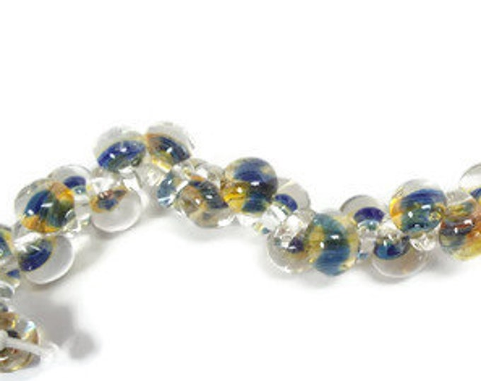 Unicorn, Teardrops, Blue Gold #21875 Strand of 25