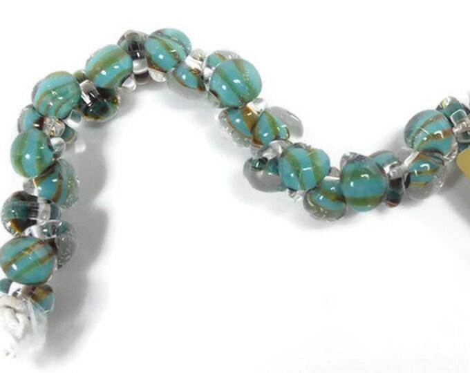 UNICORN MINI,  Beads i Exotic Aqua 25 Beads #22337 Strand of 25