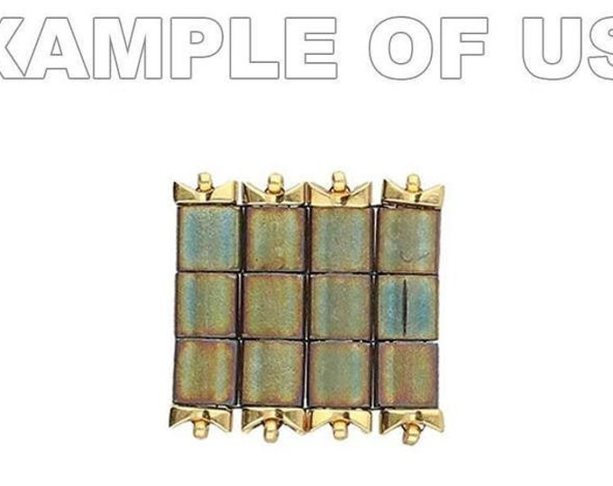 CYMBAL Tourkou Tila Side Bead. 20 pieces