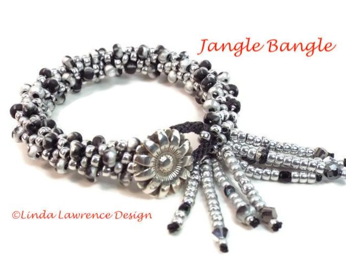 Kumihimo Bracelet Complete Kit JANGLE DANGLE BANGLE Silver