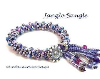 Bracelet Kit JANGLE DANGLE BANGLE Kumihimo, Purple