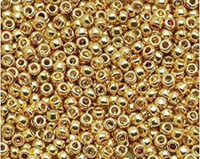 TOHO 8/0, 557PF, Seed Beads, Starlight Gold,  20 grams