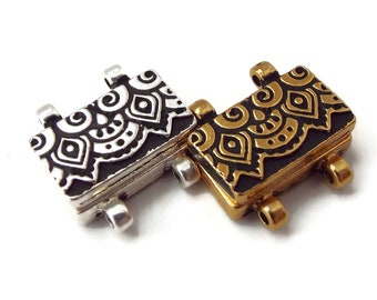 Tierra Cast Temple Magnetic Clasp,Stitch In