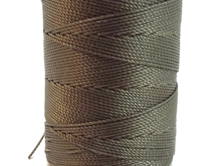 C-Lon Tex 135 Fine Weight, OLIVE GREEN Large Spool, 136 Yards