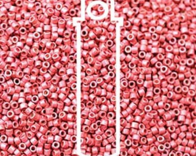 11/0 Delica DB-1841F, Duracoat Galvanized Matte Light Cranberry, 7.2 gram Tube