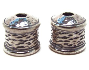 9mm STERLING SILVER End Cap, Priced per Pair