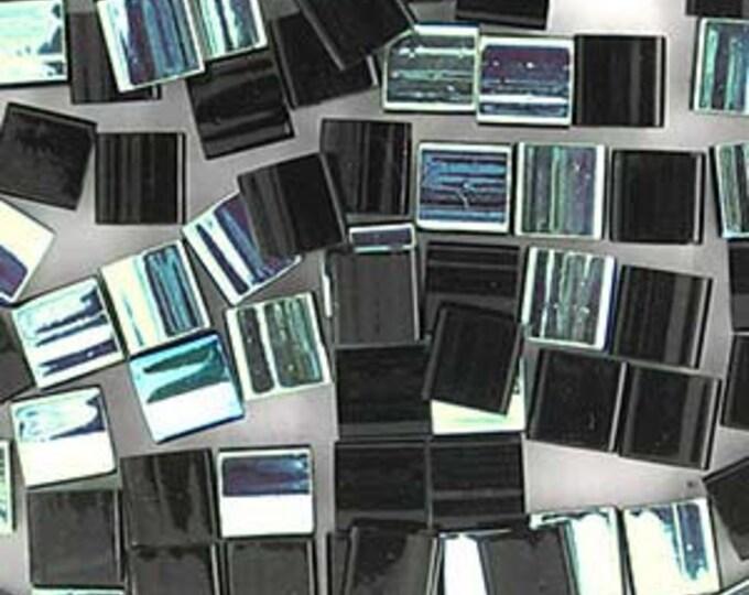 Tila 2 Hole Square Bead 5MM, 10 Grams, JET AB,  Miyuki TL4555