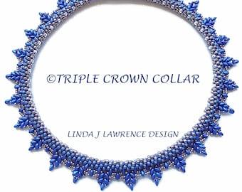 TRIPLE CROWN COLLAR Embellished Kumihimo Pattern Tutorial