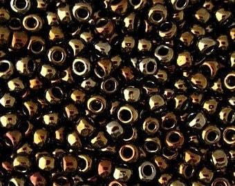 TOHO 11/0, TR11-83, Seed Beads,Metallic Brown Iris  20 grams