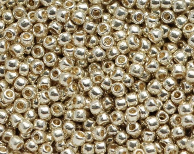 11/0 Toho Seed Beads Permanent Finish Aluminum,  PF558 Size  10 grams