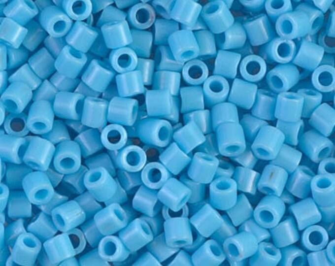 DB0725, 11/0 Miyuki Delica Seed Beads, Opaque Turquoise Blue, DB0725, 7.2 grams