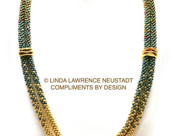 COMPLETE KIT Tri Color Love Knot Necklace ©Le Petit Menage A Trois