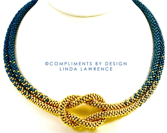 COMPLETE KIT OMBRE Love Knot Kumihimo Necklace