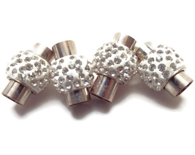 Crystal Set Ball Magnetic Clasp 6mm  DESTASH SALE