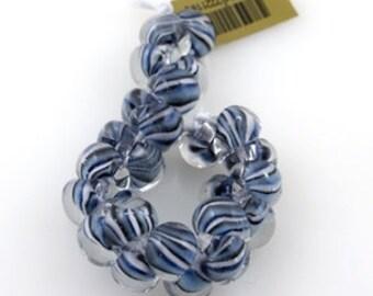 Unicorn Teardrops, Boro Glass, SEA SCALES, Exotic Series,  #2211,  25 Beads