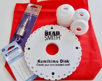 Kumihimo Braiding 5 Piece Basics Starter  Kit