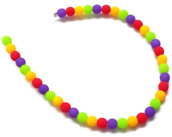 4mm NEON MIX 4mm Round Beads Czech 40 Beads per Strand