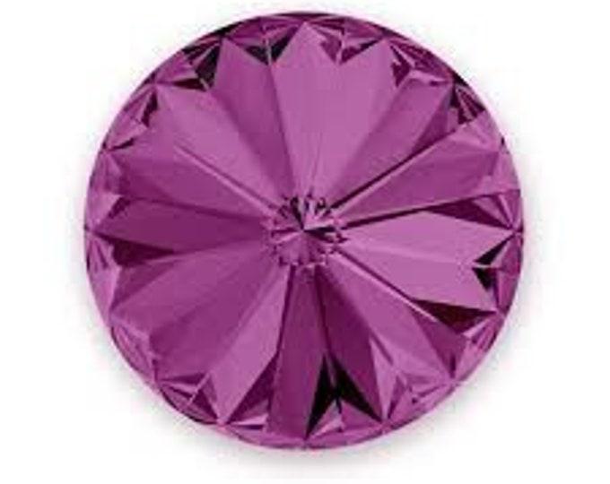 Swarovski Rivoli Chanton Round Crystals Gold Foiled  14mm