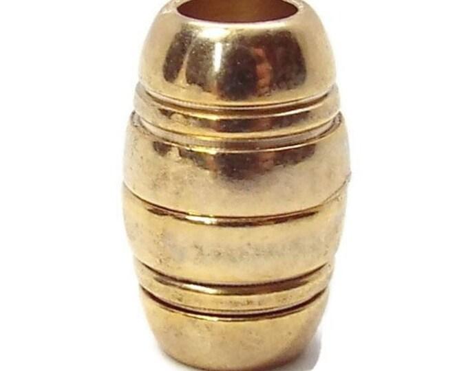 5mm Magnetic  Barrel Clasp End Cap Gold
