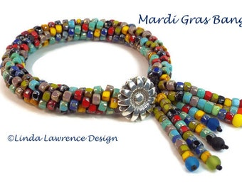 Kit Kumihimo Mardi Gras Multi-Colored bracelet